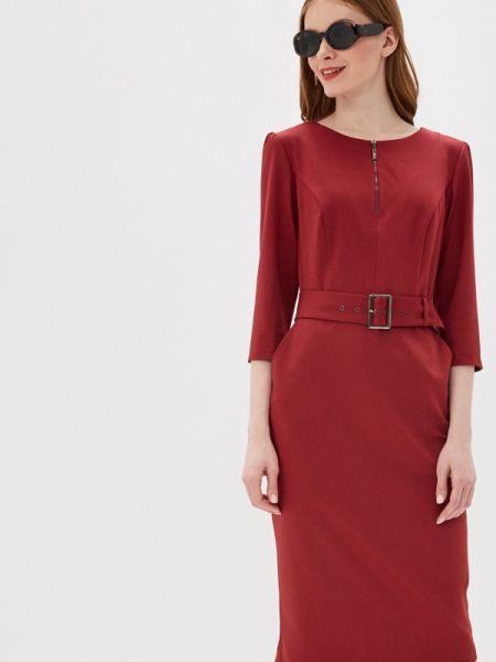 Платье футляр бордовый Likadis