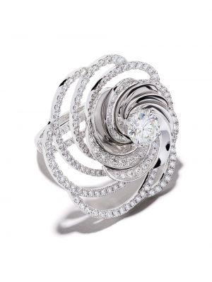 Кольцо золотое с бриллиантом круглое De Beers