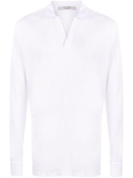 Прямая льняная рубашка с воротником La Fileria For D'aniello