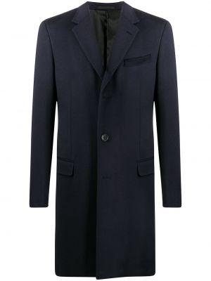 Długi płaszcz wełniany - niebieski Lanvin
