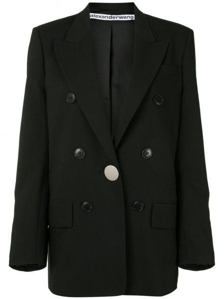 Куртка черная на пуговицах Alexander Wang
