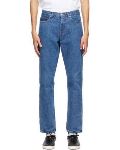 Srebro prosto jeansy o prostym kroju rozciągać Norse Projects