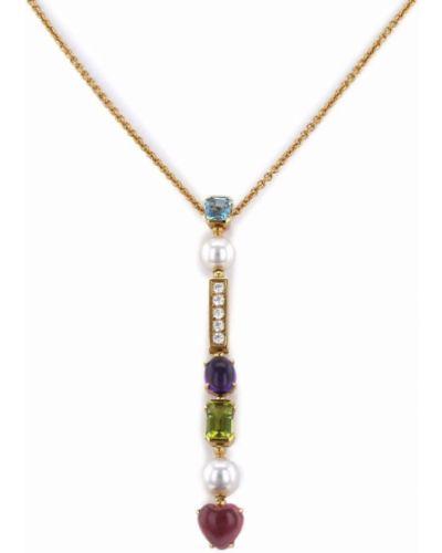 Złoty naszyjnik z pereł - żółty Bvlgari Pre-owned