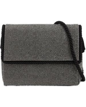 Czarna torebka z diamentem Ca&lou