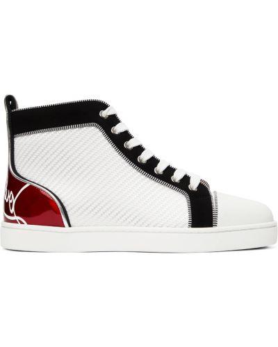 Białe sneakersy srebrne Christian Louboutin