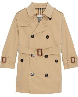 Płaszcz z mankietami z kołnierzem Burberry