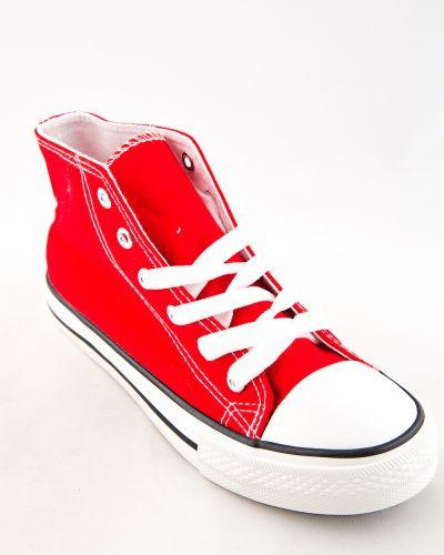 Красные текстильные кеды Saijun