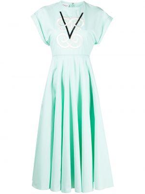 Хлопковое платье миди - зеленое Giambattista Valli