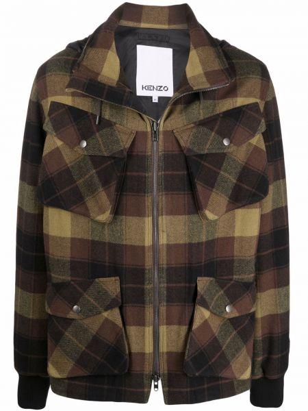 Куртка с капюшоном - коричневая Kenzo