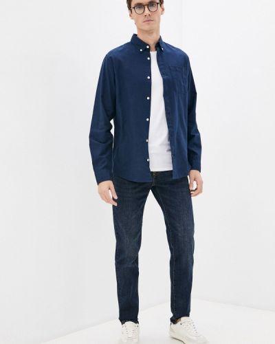 Синяя рубашка с длинным рукавом с длинными рукавами Produkt