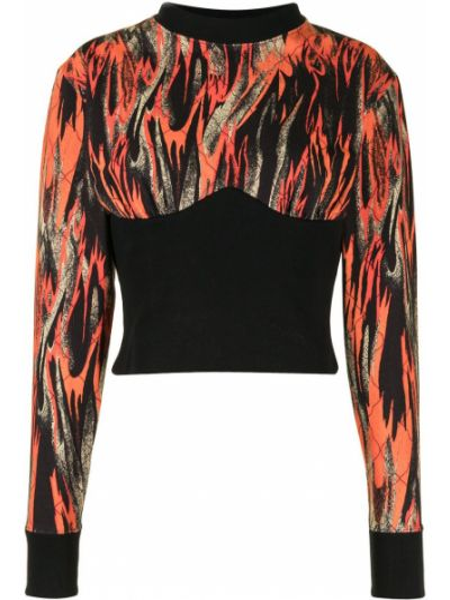 С рукавами черная толстовка с воротником Vivienne Westwood