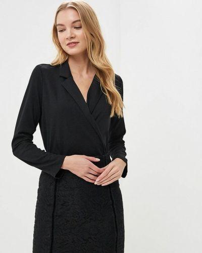 Черное боди блуза Lost Ink.