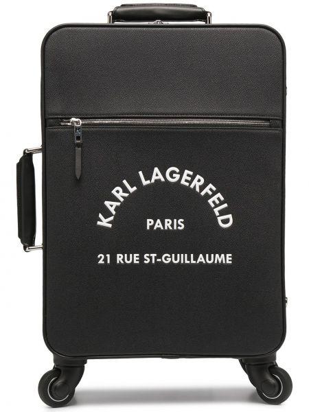 Czarny walizka Karl Lagerfeld
