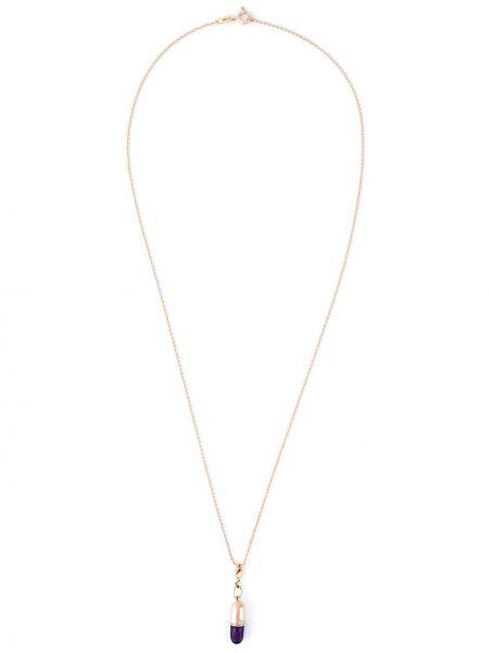 Złoty naszyjnik - fioletowy True Rocks