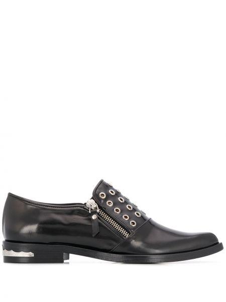 Черные брюки на каблуке на молнии Toga Pulla