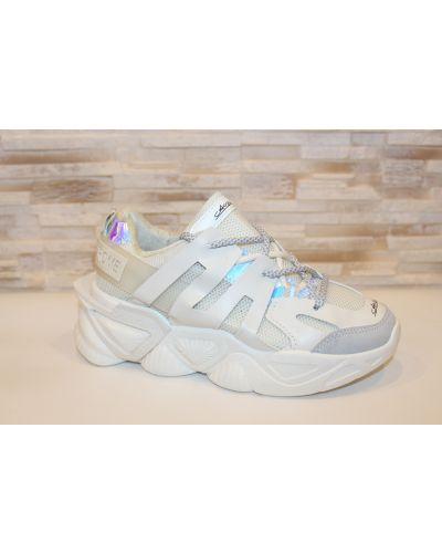 Кожаные кроссовки - бежевые Loretta