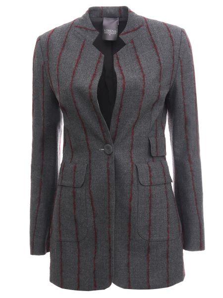 Приталенный пиджак с воротником с карманами на пуговицах Lorena Antoniazzi
