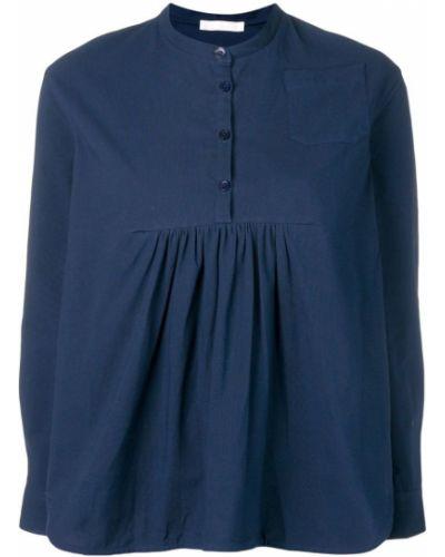 Блузка с длинным рукавом свободного кроя расклешенная Peter Jensen