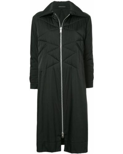 Черное длинное пальто с капюшоном винтажное Yohji Yamamoto Pre-owned
