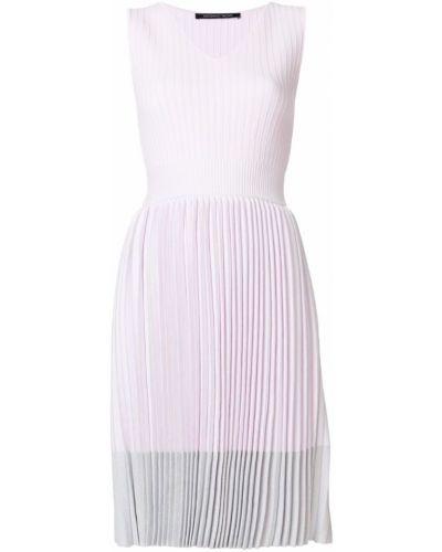 Платье с V-образным вырезом солнце плиссированное Antonino Valenti