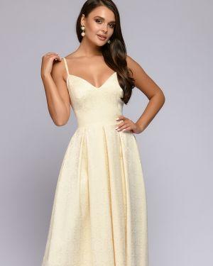 Вечернее платье с декольте на бретелях 1001 Dress