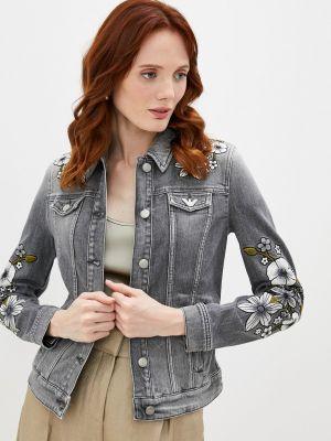 Серая джинсовая куртка Emporio Armani