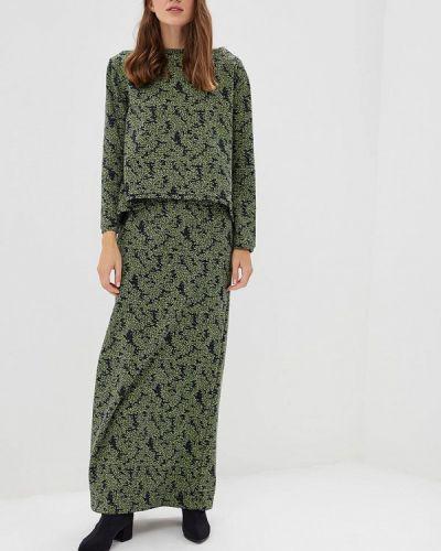 Зеленый юбочный костюм Sahera Rahmani