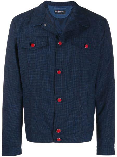Длинная куртка - синяя Kiton