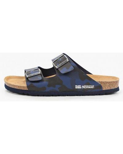 Синие кожаные сандалии Geographical Norway