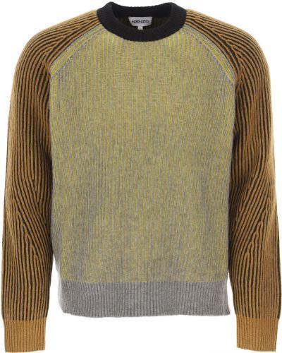 Bawełna bawełna z rękawami sweter Kenzo