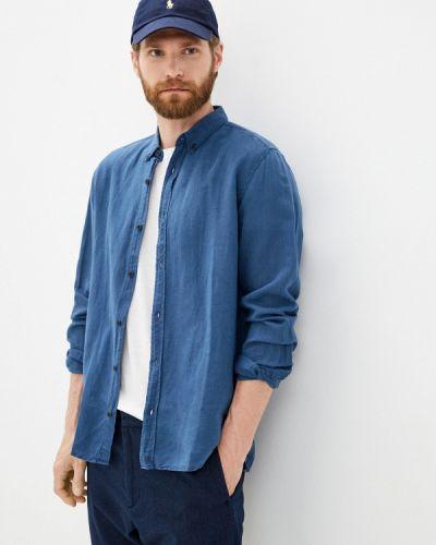 Синяя рубашка с длинным рукавом Antony Morato
