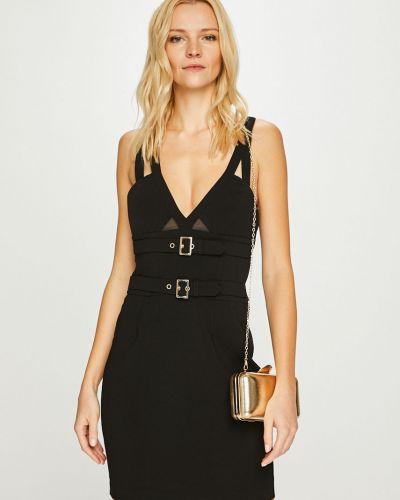 Облегающее черное платье мини закрытое Guess Jeans