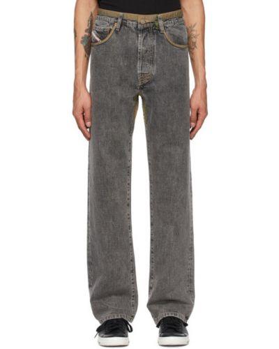 Прямые черные джинсы стрейч Diesel