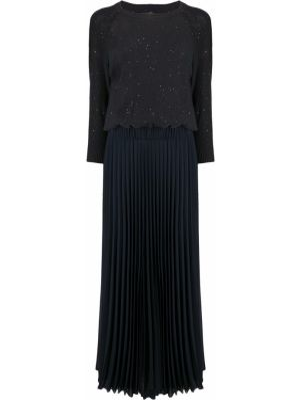 Хлопковое платье макси - синее Peserico