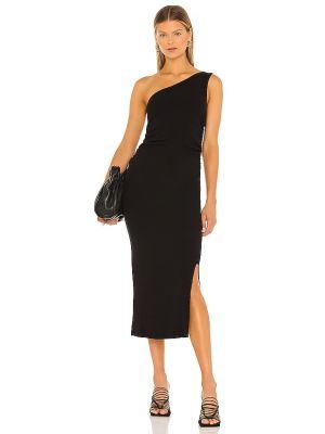 Черное платье с разрезом Lna