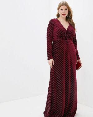Вечернее платье бордовый красный Goddiva Size Plus