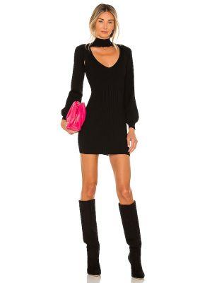 Czarna sukienka z wiskozy Superdown