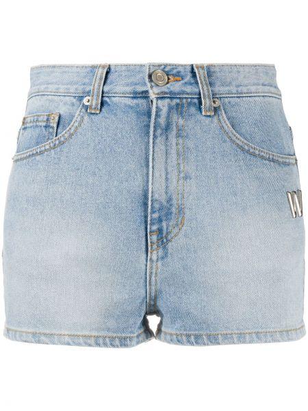 Джинсовые шорты с завышенной талией короткие We11done