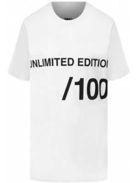 Спортивная футболка оверсайз с надписями Mm6
