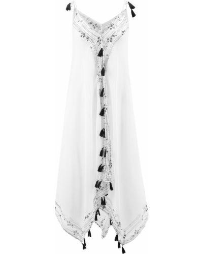 Шифоновое платье - белое Bonprix