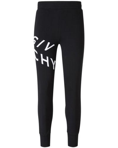 Czarne joggery dzianinowe Givenchy