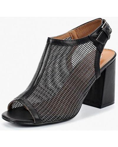 Черные босоножки на каблуке Stephan