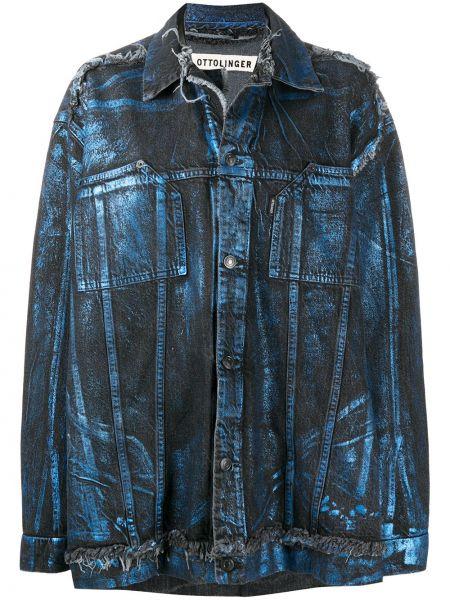 Ватная синяя джинсовая куртка с воротником Ottolinger