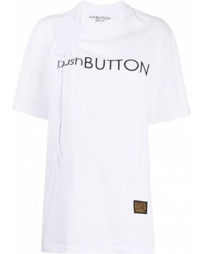 T-shirt bawełniany z printem krótki rękaw Pushbutton