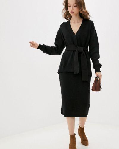 Костюмный вязаный черный костюм Annborg