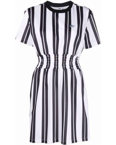 Платье миди с короткими рукавами - белое Adidas