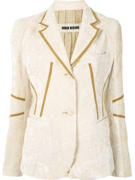 Бархатный пиджак - желтый Uma Wang
