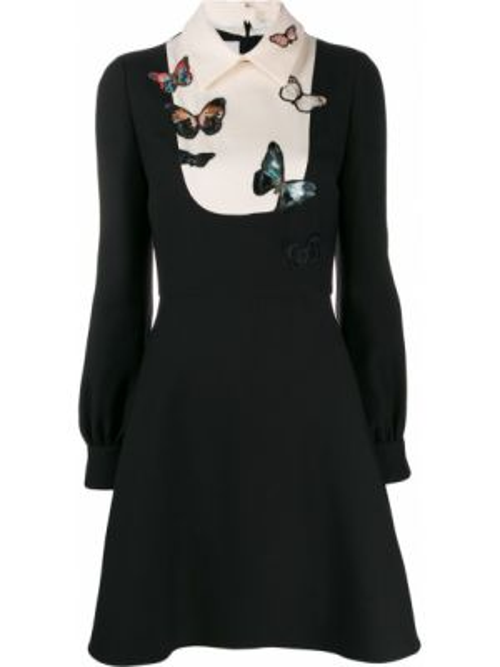 Платье с вышивкой классическое Valentino