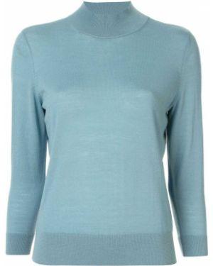 Синий свитер с рукавом 3/4 в рубчик Anteprima
