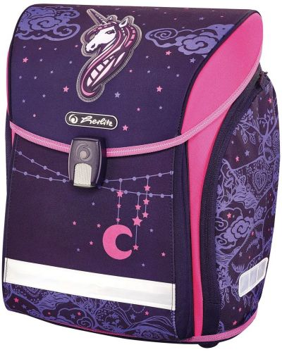 Фиолетовый школьный ранец с карманами Herlitz
